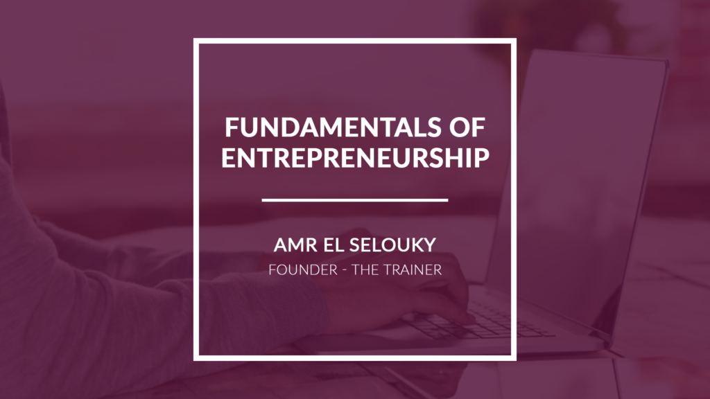 Fundamentals of Entrepreneurship
